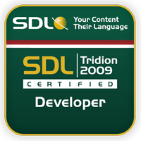 SDL Tridion certified developer 2009 thumb